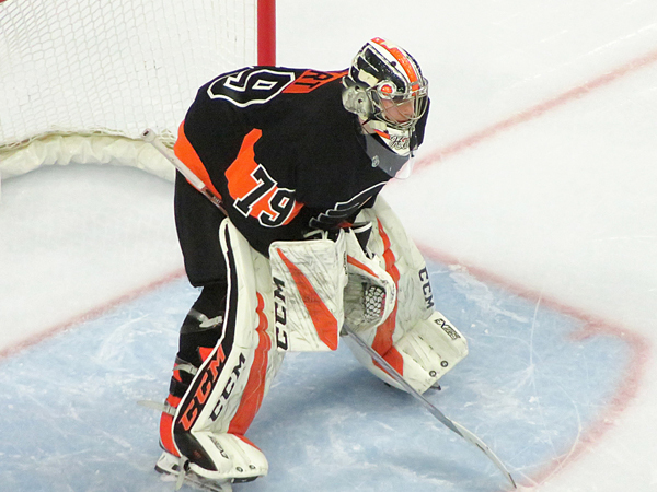 Flyers Showing Great Hart in Goal