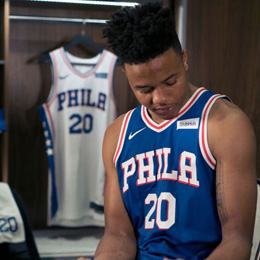 76ers Unveil New 2017-18 Nike-StubHub Uniform