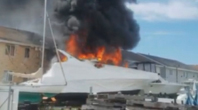 One Injured In Boat Fire...