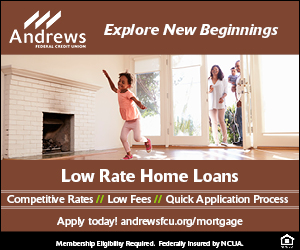 Andrews Credit Union July Mortgage 300x250